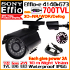 Real 1 3 Sony CCD 700TVL Effioe Mini Hd Surveillance Cctv Camera OSD Menu Waterproof IP66