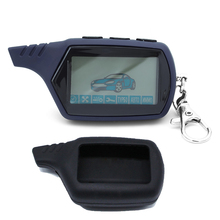 Two way LCD Remote Control Key Fob with Silicone Key Case For Russian Car Anti-t
