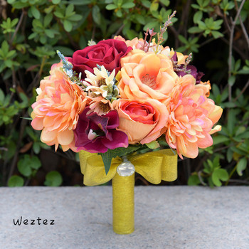 Peony Wedding Party Bridal Bouquet Flower European Style Core Peony High Grade Artificial Flowers Decorative 618