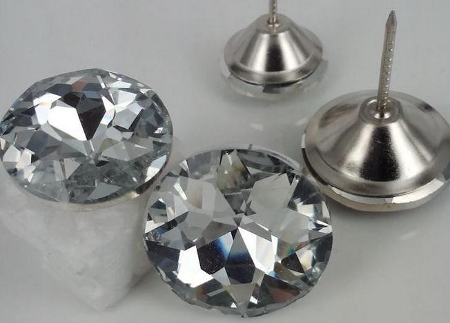 United 20mm Crystal Pin Button Sofa Button 500pcs/lot Furniture Satellite Drill Nail Crystal Buttons Buttons Color Zen Sewing Button To Enjoy High Reputation In The International Market