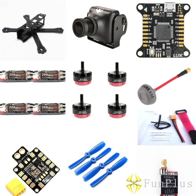 Mini Drone QAV R 220 Frame Kit + Runcam Swift Camera+ LittleBee 20A PRO ESC+ Lumenier LUX Racer Flight Control Combo qav r 220mm carbon fiber racing drone quadcopte qav r 220 f3 flight controller rs2205 2300kv motor littlebee 20a pro esc blheli