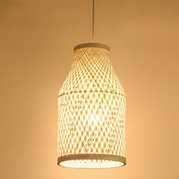 Chinese antique teahouse chandelier bamboo lamp rattan chandelier creative study cafe decoration lamps ZP423154