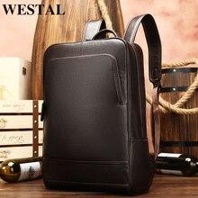 Мужской рюкзак WESTAL с защитой от воров, многофункциональный, водонепроницаемый, 15 дюймов, сумка для ноутбука, мужской рюкзак для путешествий, школьные сумки для подростков 811