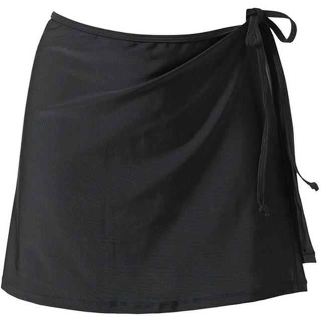 Women Fashion Beach Vacation Bikini Skirt Solid Color Lace-Up Mini Skirt Female Swim Bikini Bottom Hot Sale 5