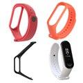 Высокая качественный силиконовый браслет бренд для Xiaomi Mi группа 3 цветной ремешок для часов Спорт браслет - фото