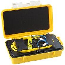 Волоконно-оптический OTDR пусковой кабель коробка 1 км один режим FC/UPC-FC/UPC OTDR Dead Zone Eliminator волоконные кольца