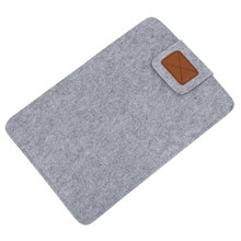 Funda de fieltro suave para ordenador portátil Ultrabook de Macbook Air y Tablet gris de 13 pulgadas(China)