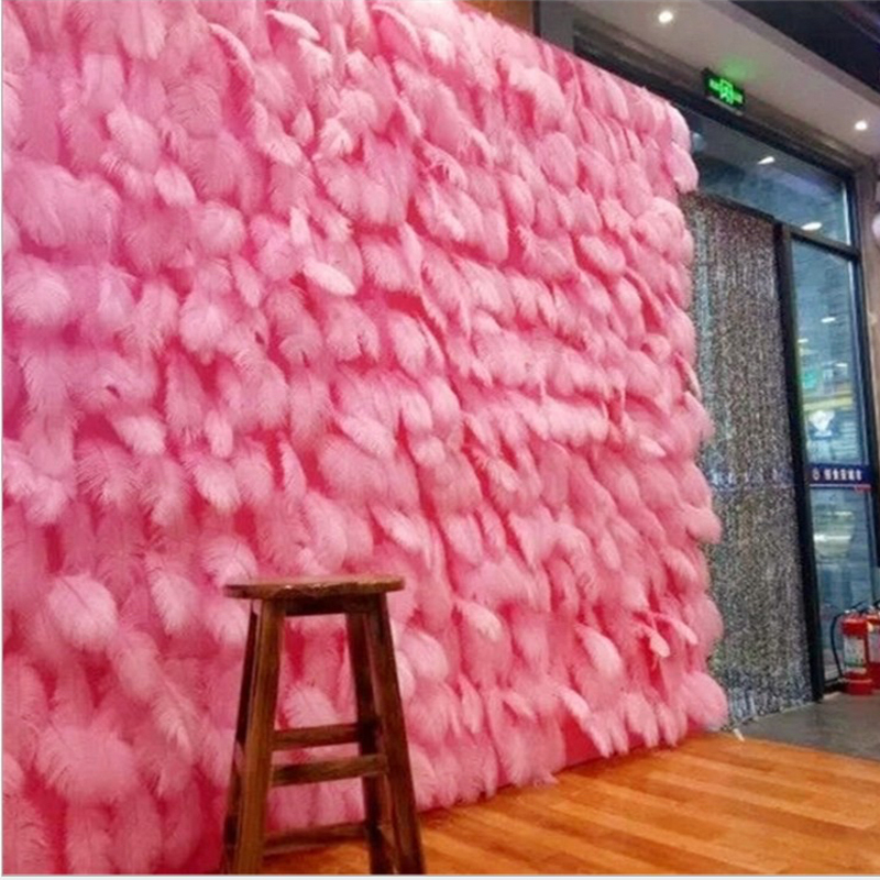 Free Shipping 100pc Pink Feather 15-20cm White Romantic Wedding Favor Birthday Party Decoration Accessories Backdrops Photo Prop