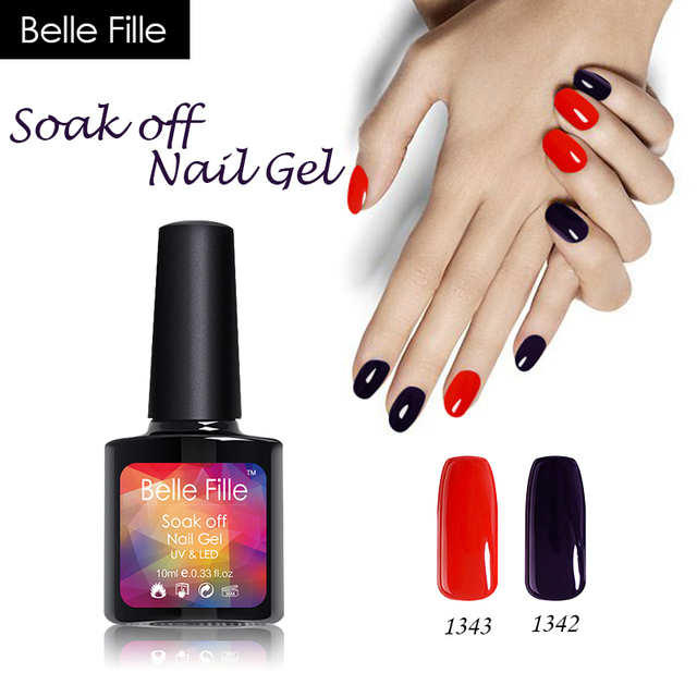 BELLE FILLE Soak Off UV Gel Nail Polish Professional Varnish Nail ...