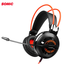 SOMiC G925 유선 헤드폰 3.5mm 게임용 헤드셋, PC 용 노트북 이어폰, 마이크 이어폰 헤드폰, 컴퓨터 용