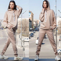 Women Autumn Matching Sets Clothes Outfits Woolen Knitted Suit Sweater Tops And Pencil Pants Sweat Suits Trousers Two Piece Set