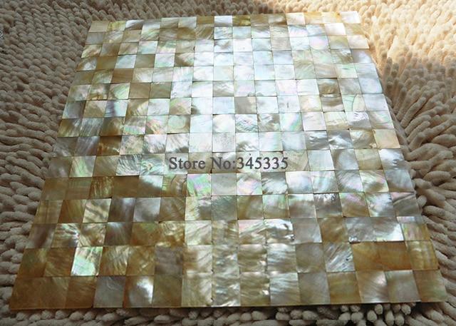 11 Stucke Gelb Lippe Shell Mosaik Fliesen Mutter Von Pearl Bad Kuche