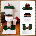 5 sets Happy Snowman Christmas Bathroom Set Toilet Seat Cover Rug Xmas Decoration Year decorations Adornos de Navidad Promotions
