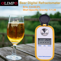 olimpo Electronic Digital Beer Refractometer 0 50% Brix 1 1.30 Wort Specific Gravity for Homebrew Digital Refractometer Brewing