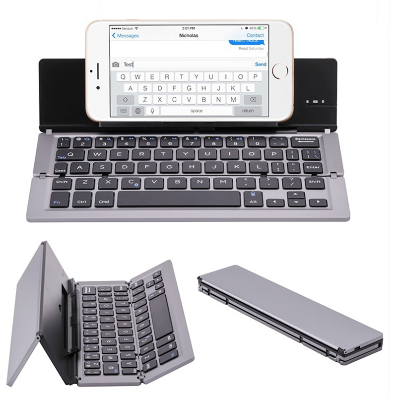 Mini Foldable Bluetooth Keyboard For Iphone Ipad PC Tablet Phon IPad Mini/Pro/Air For Samsung Smartphones Portable Travel Keypad