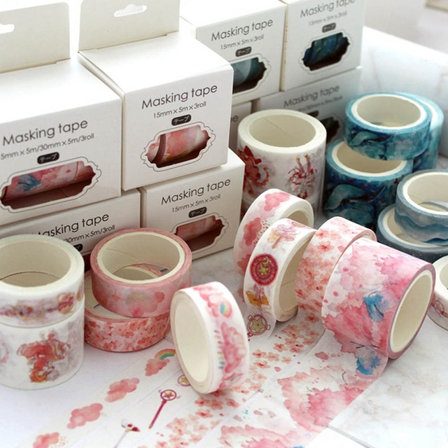 3pcs/set Floral Washi Tape