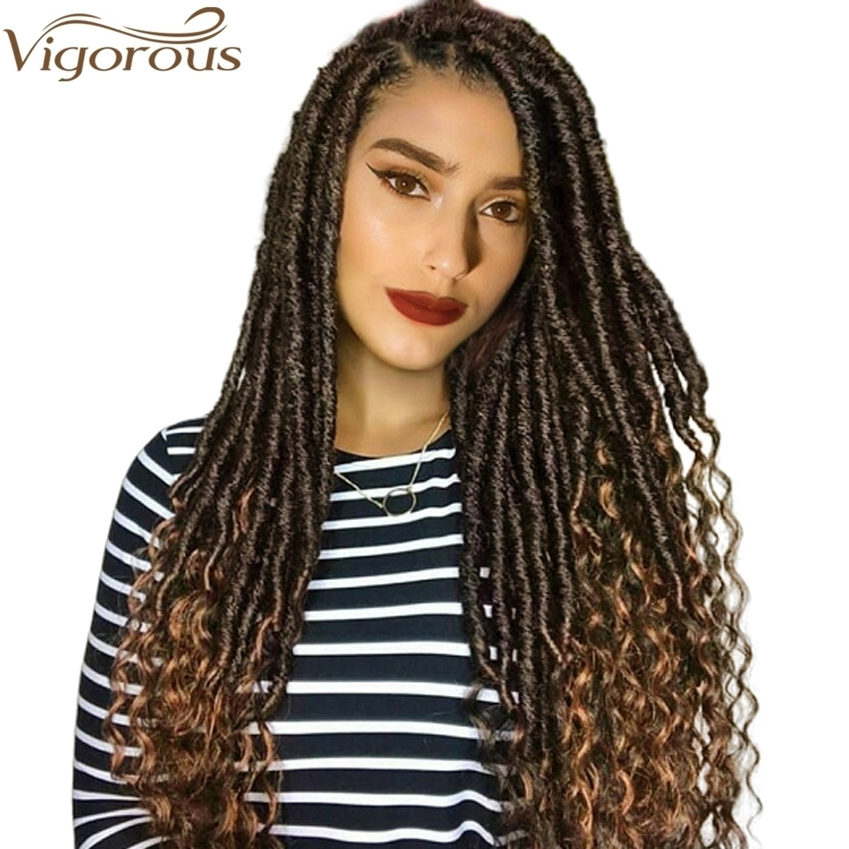 Vigorous Synthetic-Hair-Extension Braids Crochet Goddess-Locks Faux-Locs Soft Natural