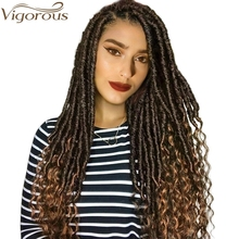 Vigorous Faux Locs Crochet Braids 16 20 Inch Soft Natural Soft Synthetic