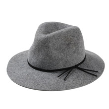 New fashion gentlemens gray wool felt fedora hat classical stetson fedoras hats unisex 4 color