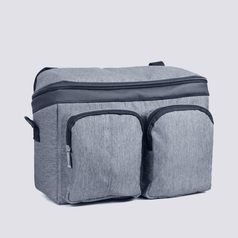 Diaper Bag For Baby Stuff Nappy Bag Stroller Organizer Baby Bag Mom Travel Hanging Carriage Pram Buggy Cart Two Bottle Bag - Цвет: Grey