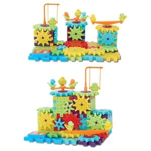 Image 4 - 81 قطعة/الوحدة السحر الكهربائية التروس اللبنات الطوب 3D DIY البلاستيك مضحك التعليمية فسيفساء لعبة للأطفال لعبة تعليمية هدية