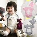 Estilo lindo Totoro ropa del bebé del bebé del mameluco encapuchado Body traje de manga larga ropa del bebé los niños infantiles del bebé de los mamelucos envío gratuito