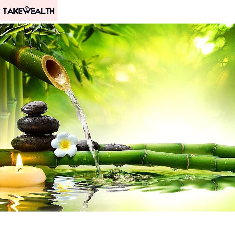 что делают красивые картинки на телефон бамбук вода камни конверте открытка