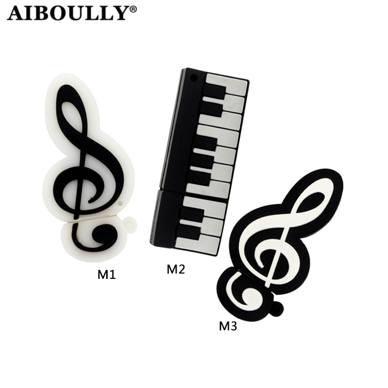 Piano usb Stick 4gb 8gb 16gb 32gb 64gb Flash Memory Stick Pendrive Music Note USB Flash Drive For Tablet PC usb stick 4gb 8gb 16gb 32gb 64gb flash memory stick pendrive light bulb usb flash drive mini gift u disk for tablet pc
