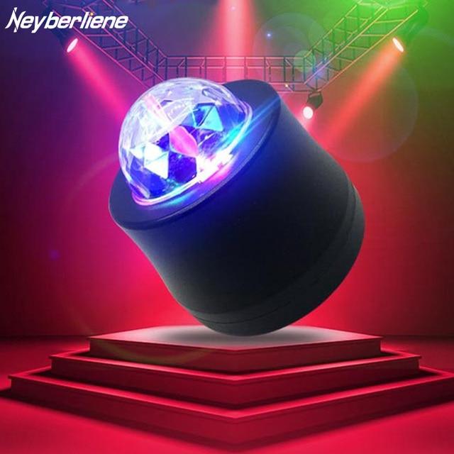 Led Par Dj Stage Light Party Lights Lamp Rgb Laser Beam Disco Ball Usb 6 Colorful Lighting Effect Equipment