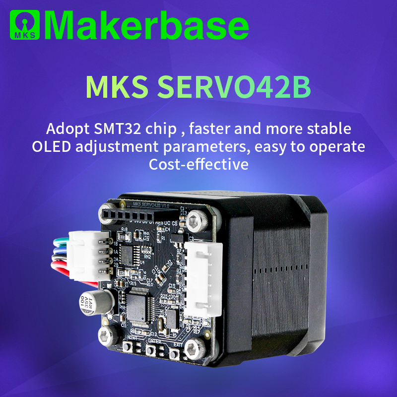 Makerbase MKS SERVO42B NEMA17 STM32 Closed Loop Stepper Motor Driver CNC 3d Printer Parts Prevents Losing Steps For Gen L SGen L