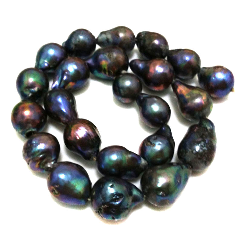 16 inches 15-20mm AA+ Black Natural Nucleated Large Raindrop Baroque Pearl Loose Strand16 inches 15-20mm AA+ Black Natural Nucleated Large Raindrop Baroque Pearl Loose Strand