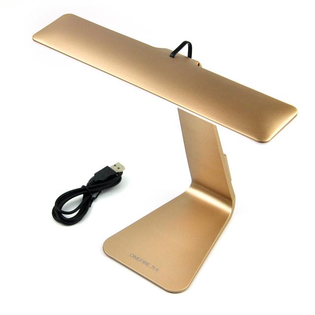 1X De Prata/Cinza/Ouro 3-modos de LED do Sensor de Toque Lâmpada de Mesa, design elegante USB Toque Mesa de Luz Lâmpadas/Lâmpadas de Leitura Olho Protegido