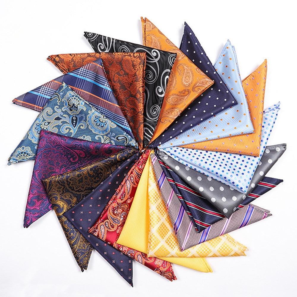 CityRaider Paisley Floral Print Cotton Handkerchiefs For Men Pocket Square Wholesale VIP Link 25*25cm A069