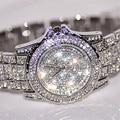 Relogio New Luxury Sliver/Gold Women Watches Rhinestone Crystal Wristwatch Lady Dress Watch Luxury Analog Quartz Watches Gift