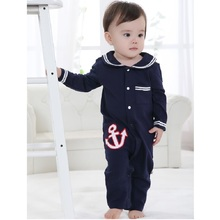 NewBorn Long Rompers sailor navy Baby Romper Top Quality baby clothes outfits