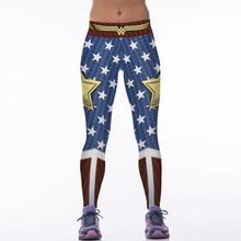 НОВЫЙ 88005 Женщин Девушки Комиксы Мстители Чудо-Женщина Старый слава 3D Печать Высокая Талия Запуск Фитнес Спорт Леггинсы Йога брюки