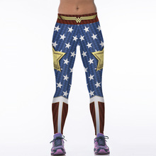 NEW 88005 Girl Women Comics The Avengers Wonder Woman Old Glory 3D Prints High Waist Running Fitness Sport Leggings Yoga Pants