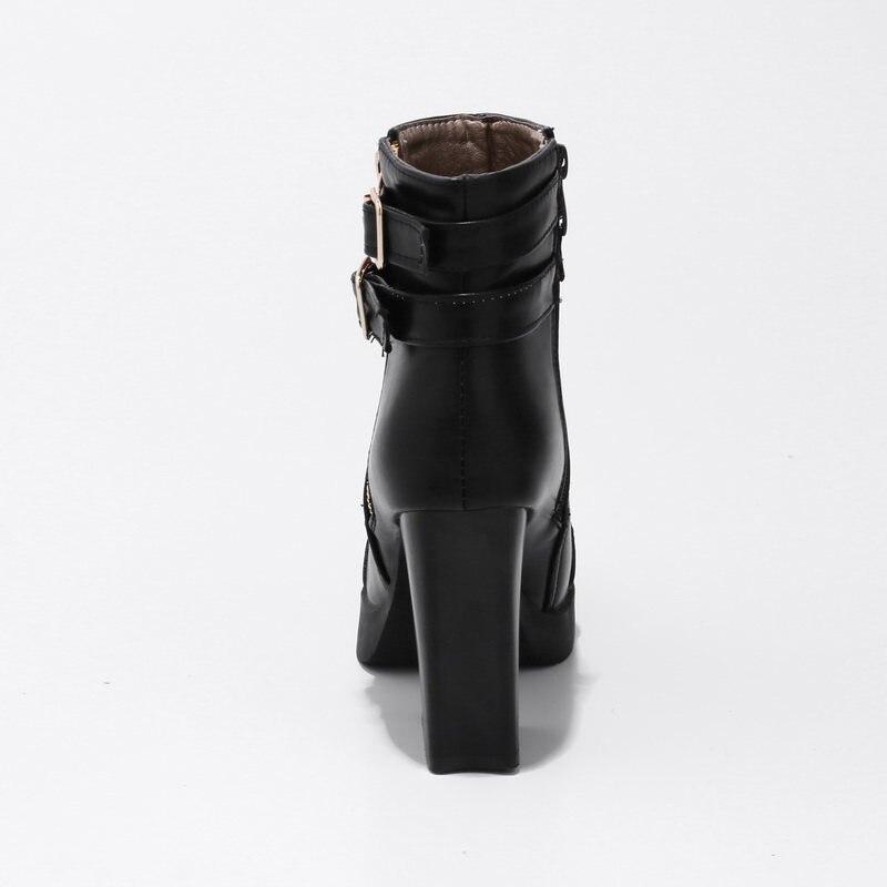 La Mode 33 Femmes Boucle 2018 Haute Arrivent 43 gun Extrême Talons Pour vert Simple De Taille D'hiver Noir Bottes Cheville Nouveau Memunia Plus 7AaUwqvA