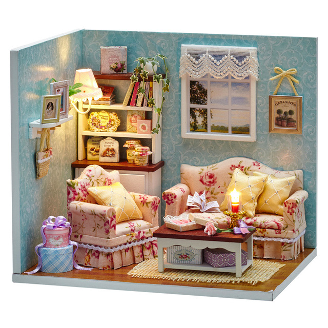 DIY Handmake Wooden Dollhouse Miniature Kit Reunion With