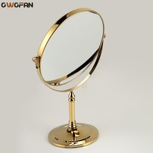 8 Spinning 360 degree desktop Gold 1x3 Magnifying double faced 2 makeup mirror cosmetic table 728A