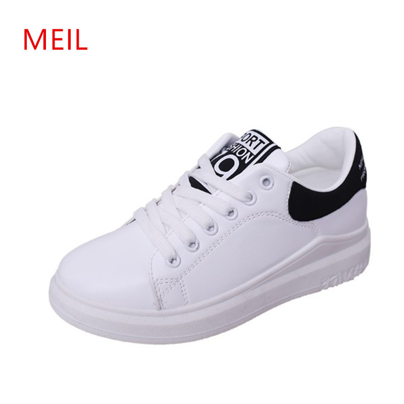 Ladies White Sneakers Womens Casual Platform Wedges Shoes for Women Woman Female