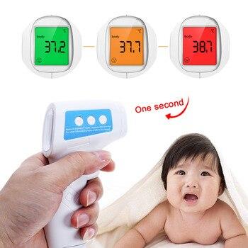Termómetro Digital infrarrojo LCD para bebé adulto termómetro infrarrojo para la frente pistola termómetro corporal sin contacto dispositivo de medición de temperatura