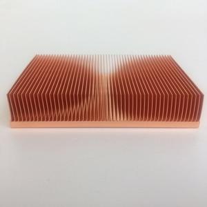 Image 1 - Disipador de calor de cobre puro Cu1100, fuente directa de fábrica, 100x50x15mm, disipador de calor de aleta de skiving