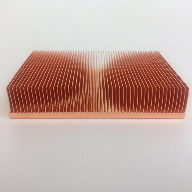 Disipador de calor de cobre puro Cu1100, fuente directa de fábrica, 100x50x15mm, disipador de calor de aleta de skiving