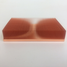 Factory direct supply 100x50x15mm Pure copper heat sink  Cu1100 skiving fin heat sink