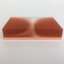 Rifornimento diretto della fabbrica 100x50x15mm Puro dissipatore di calore in rame Cu1100 skiving pinna dissipatore di calore