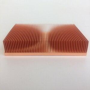 Image 1 - Rifornimento diretto della fabbrica 100x50x15mm Puro dissipatore di calore in rame Cu1100 skiving pinna dissipatore di calore