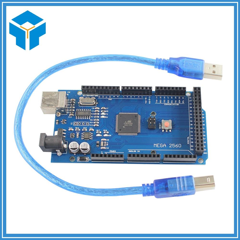 Smart Electronics Mega 2560 R3 ATmega16U2 Development Board + USB Cable Diy Starter Kit ATmega2560 Mega2560 Atmega 2560 r3 development board kit black blue