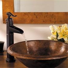 Для ванной Роскошные масло втирают краны Профессиональный масло втирают Бронзовый ванной бассейна кухонной мойки Поворотный смеситель судно кран