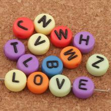 350pcs Round Colorful 26 Alphabet Letter Acrylic Spacer Beads 7mm L3024 Spacers Jewelry DIY бюстгальтер 3 4 350pcs 1345usd dear aren